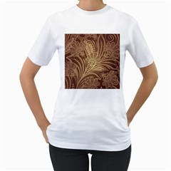 Beautiful Patterns Vector Women s T-Shirt (White) (Two Sided)