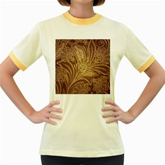 Beautiful Patterns Vector Women s Fitted Ringer T-Shirts