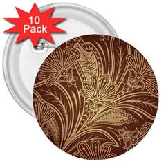 Beautiful Patterns Vector 3  Buttons (10 Pack)