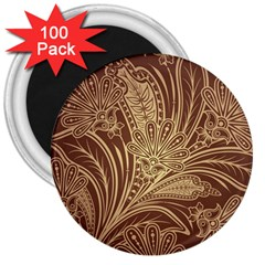Beautiful Patterns Vector 3  Magnets (100 Pack)