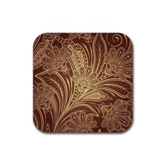 Beautiful Patterns Vector Rubber Square Coaster (4 pack)