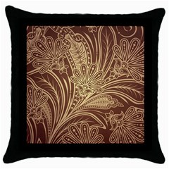 Beautiful Patterns Vector Throw Pillow Case (Black)