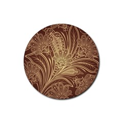 Beautiful Patterns Vector Rubber Round Coaster (4 Pack)