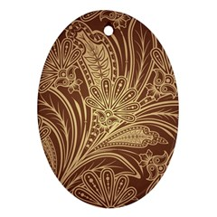 Beautiful Patterns Vector Oval Ornament (Two Sides)