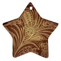Beautiful Patterns Vector Star Ornament (two Sides)