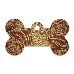 Beautiful Patterns Vector Dog Tag Bone (one Side)