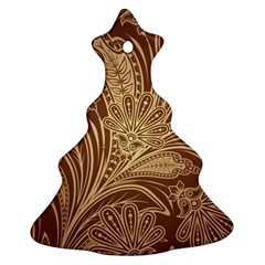Beautiful Patterns Vector Christmas Tree Ornament (Two Sides)