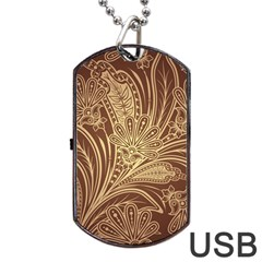 Beautiful Patterns Vector Dog Tag USB Flash (One Side)