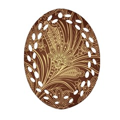 Beautiful Patterns Vector Ornament (oval Filigree)