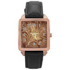 Beautiful Patterns Vector Rose Gold Leather Watch