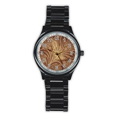 Beautiful Patterns Vector Stainless Steel Round Watch