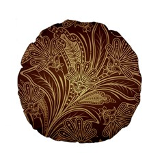 Beautiful Patterns Vector Standard 15  Premium Flano Round Cushions