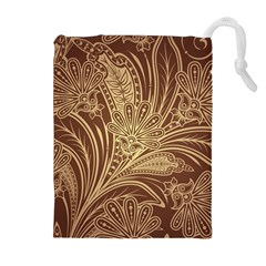 Beautiful Patterns Vector Drawstring Pouches (extra Large)
