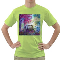 Bench In Spring Forest Green T-Shirt