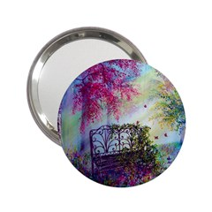 Bench In Spring Forest 2 25  Handbag Mirrors