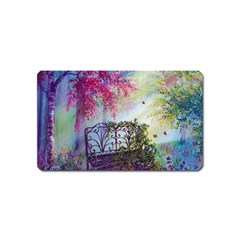 Bench In Spring Forest Magnet (name Card)