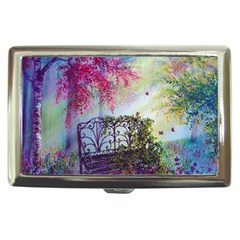 Bench In Spring Forest Cigarette Money Cases