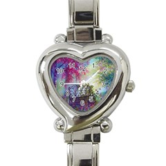Bench In Spring Forest Heart Italian Charm Watch