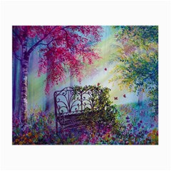 Bench In Spring Forest Small Glasses Cloth