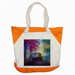 Bench In Spring Forest Accent Tote Bag