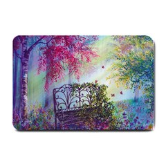Bench In Spring Forest Small Doormat
