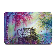 Bench In Spring Forest Plate Mats