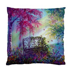 Bench In Spring Forest Standard Cushion Case (two Sides)