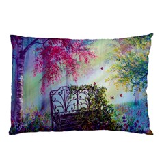 Bench In Spring Forest Pillow Case