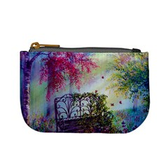 Bench In Spring Forest Mini Coin Purses