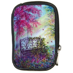 Bench In Spring Forest Compact Camera Cases