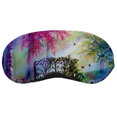 Bench In Spring Forest Sleeping Masks