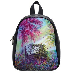 Bench In Spring Forest School Bags (small)