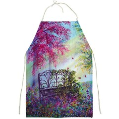 Bench In Spring Forest Full Print Aprons
