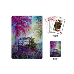 Bench In Spring Forest Playing Cards (Mini)