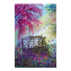 Bench In Spring Forest Shower Curtain 48  X 72  (small)