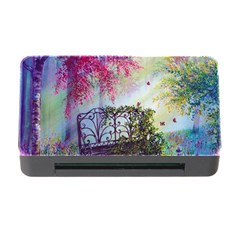Bench In Spring Forest Memory Card Reader with CF