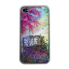 Bench In Spring Forest Apple Iphone 4 Case (clear)