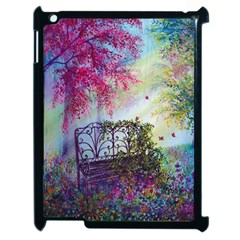 Bench In Spring Forest Apple Ipad 2 Case (black)