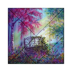 Bench In Spring Forest Acrylic Tangram Puzzle (6  X 6 )