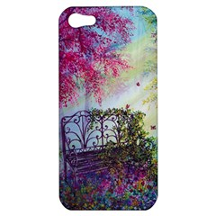 Bench In Spring Forest Apple Iphone 5 Hardshell Case