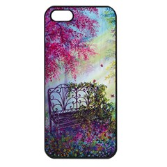 Bench In Spring Forest Apple Iphone 5 Seamless Case (black)