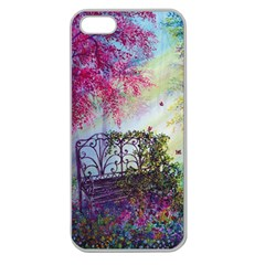 Bench In Spring Forest Apple Seamless iPhone 5 Case (Clear)