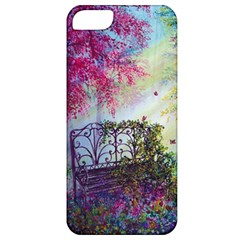 Bench In Spring Forest Apple Iphone 5 Classic Hardshell Case