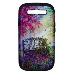 Bench In Spring Forest Samsung Galaxy S Iii Hardshell Case (pc+silicone)