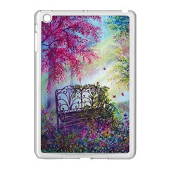 Bench In Spring Forest Apple Ipad Mini Case (white)
