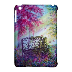 Bench In Spring Forest Apple Ipad Mini Hardshell Case (compatible With Smart Cover)