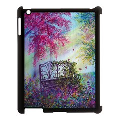 Bench In Spring Forest Apple Ipad 3/4 Case (black)
