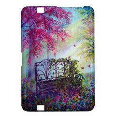 Bench In Spring Forest Kindle Fire HD 8.9