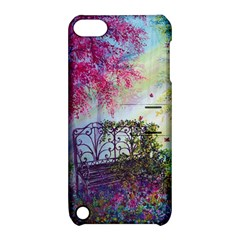 Bench In Spring Forest Apple Ipod Touch 5 Hardshell Case With Stand
