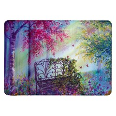 Bench In Spring Forest Samsung Galaxy Tab 8.9  P7300 Flip Case